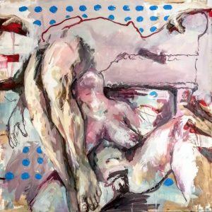 Il Morso, 2021, olio su tela, 120x120 cm