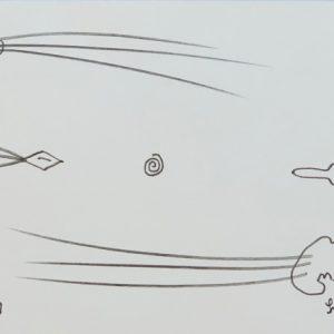 JAROMIR SVOZILIK NORVEGIA FLYING FLUXUS - Pencil drawing