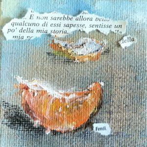 MUSSA ANDREJ Agostina, profumavi di mandarino olio su juta 10x10cm-9C51-F321776C0F0A