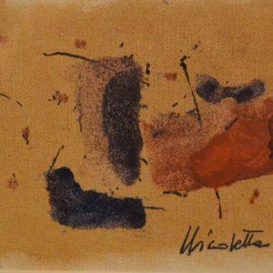 Nicoletta Gatti, Senza titolo, 9x14 cm, olio su carta, 2018