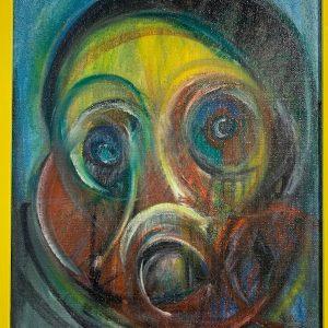 Ritratto olio su tela cm 40x50